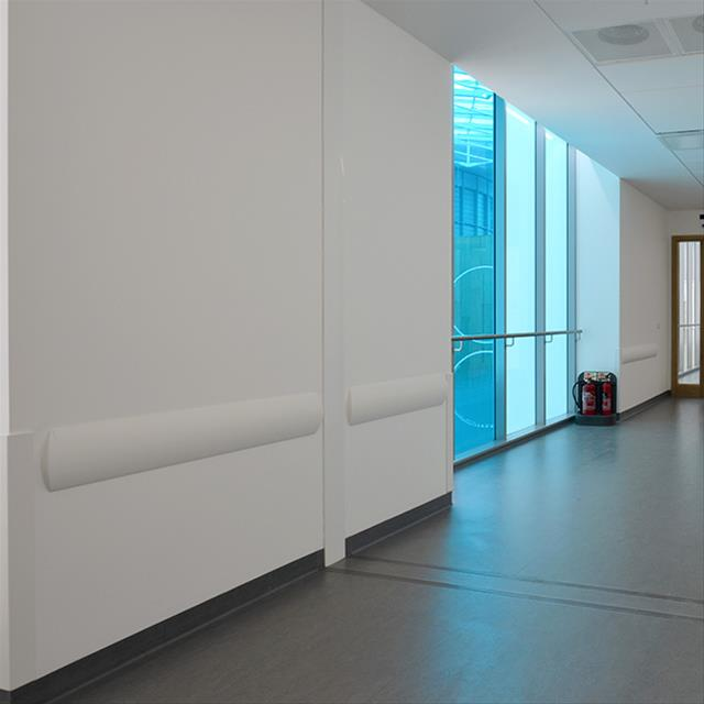 BUMP RAILS: Acrovyn, Stainless Steel, Rubber