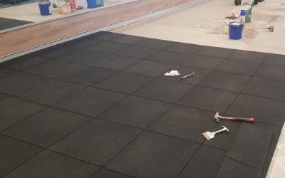 Regupol FX50 Rubber Paver Gym Installation