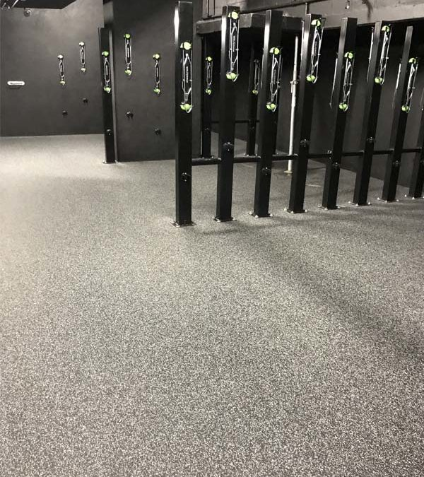 End-of-Trip Facility Rubber Flooring Installation