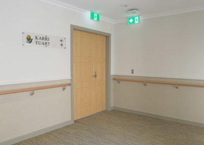HRWS-6C Solid Timber Handrail at Meath Care Como
